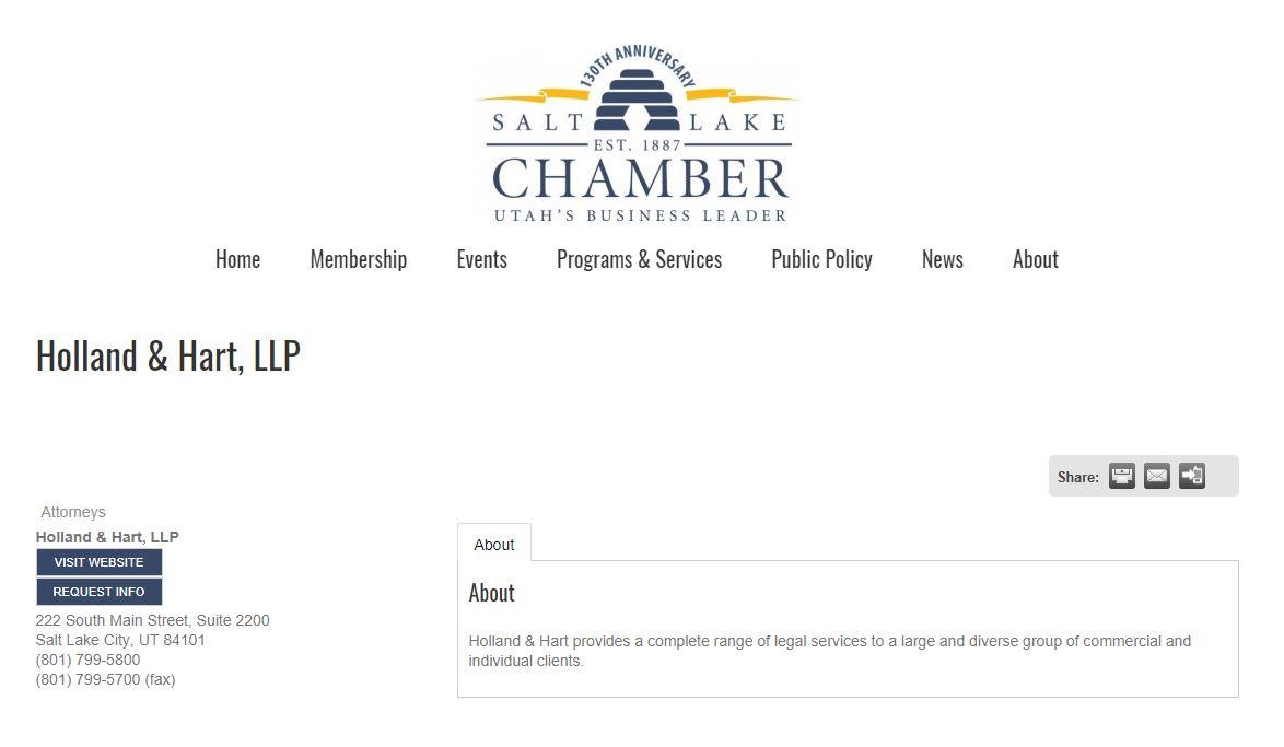 Chamber of Commerce Lawyer Backlinks