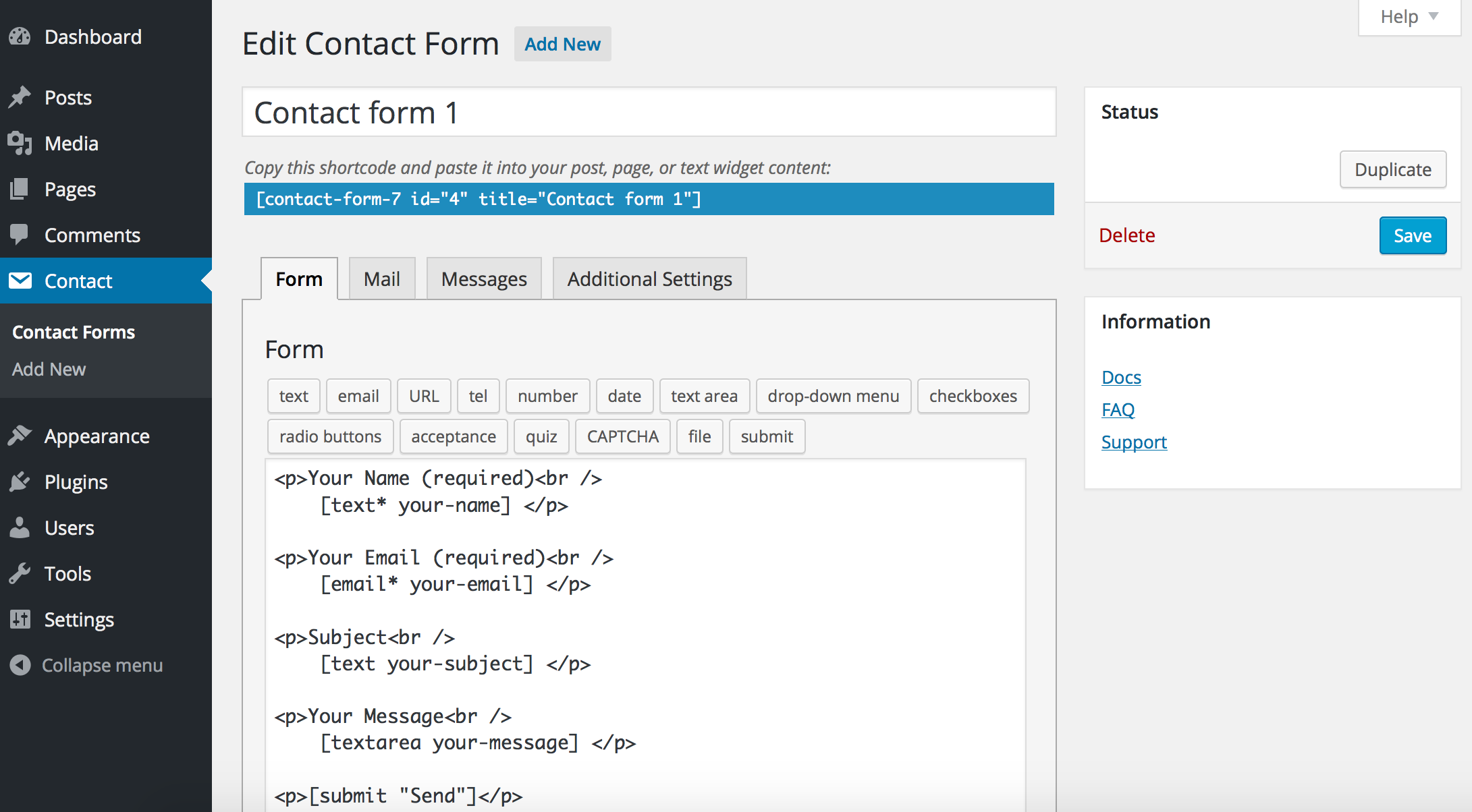 Example of Setting Up Contact Form For Attorneys